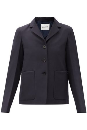 Jil Sander Single-breasted Wool Jacket - Womens - Navy