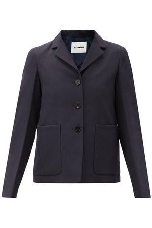 Jil Sander Women Blazers - Single-breasted Wool Jacket - Womens - Navy