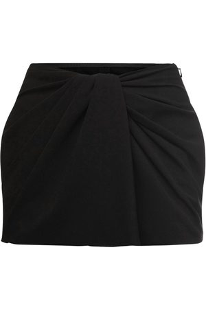VALENTINO Knot Draping Stretch Cady Mini Skort