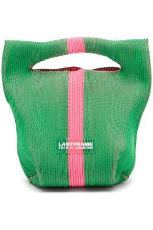 LASTFRAME Women Purses - Two-tone Rib-knit Bag - Womens - Multi