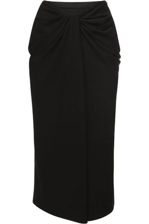 VALENTINO Women Skirts - Knot Draping Stretch Silk Cady Skirt