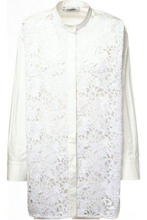 VALENTINO Cotton Poplin & Macramé Shirt