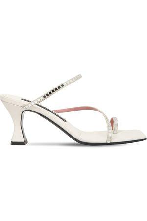 Les Petits Joueurs 70mm Amanda Embellished Suede Sandals