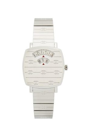 Gucci Women Watches - Grip Two-window Stainless-steel Watch - Womens