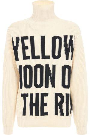 Jil Sander Intarsia Cotton Knit Turtleneck Sweater