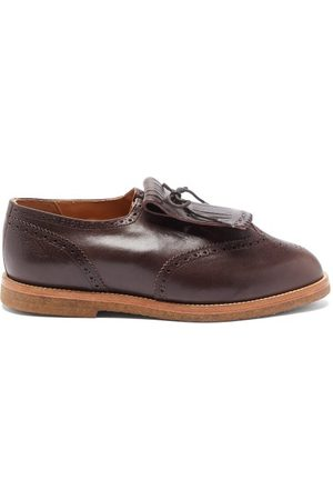 Jacques Soloviere Ray Tasselled Leather Derby Shoes - Mens - Dark