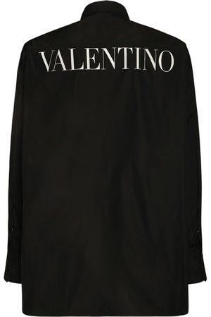 VALENTINO Logo Printed Wind Jacket W/macramé