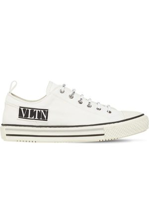 VALENTINO GARAVANI Logo Canvas High Top Sneakers