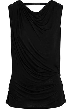 HELMUT LANG Women Tank Tops - Woman Wrap-effect Draped Slub Jersey Top Size M