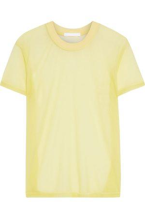 Helmut Lang Women Short Sleeve - Woman Organza T-shirt Size M