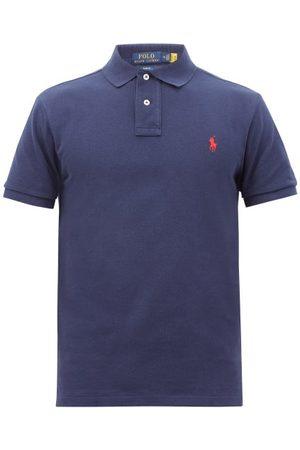 Polo Ralph Lauren Logo-embroidered Cotton-piqué Polo Shirt - Mens - Navy