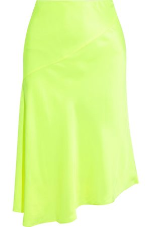 Helmut Lang Woman Asymmetric Satin Skirt Bright Size 0