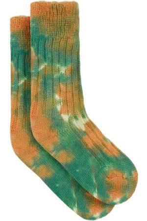 THE ELDER STATESMAN Yosemite Tie-dye Cashmere Socks - Mens - Multi