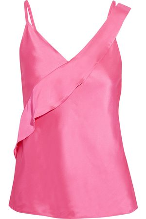Helmut Lang Woman Wrap-effect Satin Camisole Bright Size 0