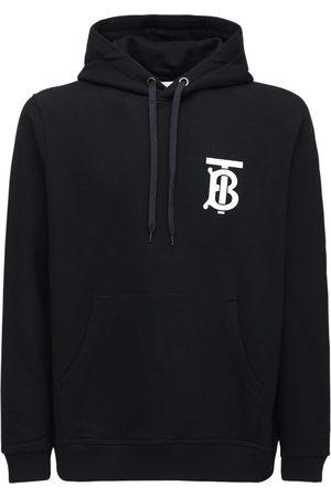 Burberry Tb Logo Print Cotton Jersey Hoodie