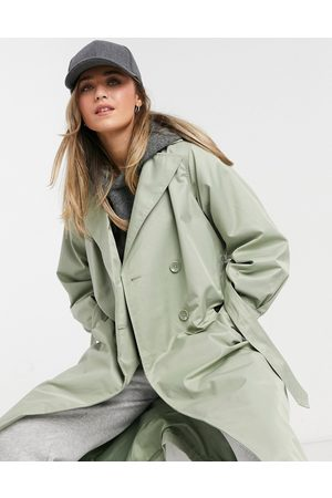 Threadbare Louisa trench coat in sage