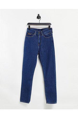 Calvin Klein EST 1978 narrow straight jeans in dark wash blue-Blues