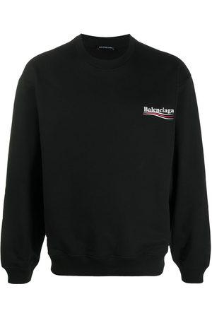 Balenciaga Men Sweatshirts - Logo print sweatshirt