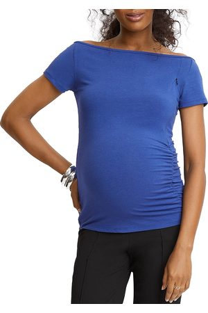 STOWAWAY COLLECTION Off The Shoulder Nursing Maternity Top