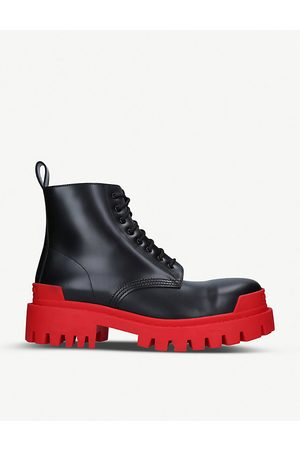 Balenciaga Ankle Boots - Strike leather platform ankle boots