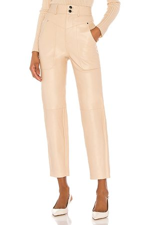 Song of Style Seana Leather Pant in Neutral.