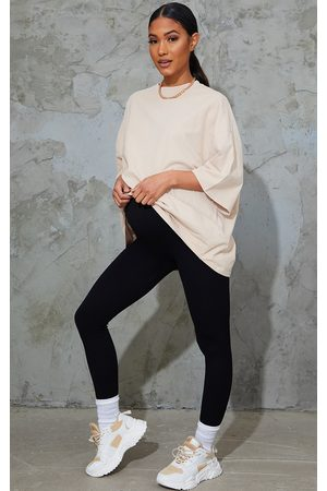 PRETTYLITTLETHING Maternity Contour Ribbed Bump Support Leggings
