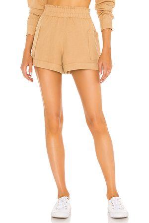 Show Me Your Mumu Disilvio Shorts in Tan.