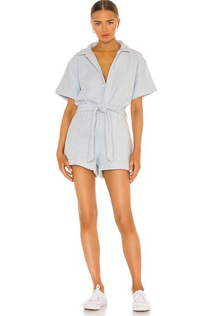 TERRY Belted Romper in Baby .