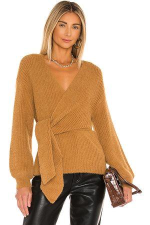 House of Harlow X REVOLVE Khalida Wrap Sweater in Tan.