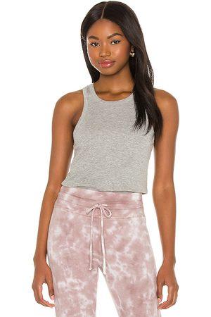 Beyond Yoga Women T-shirts - Keep in Line Tank in Grey.