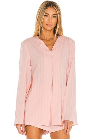L'Academie Loose Pajama Top in Blush.