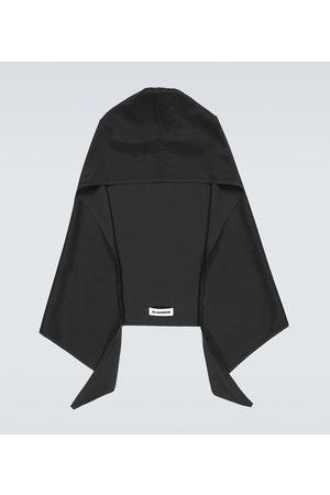 Jil Sander Hooded cotton-blend scarf