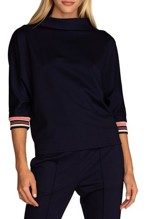 Trina Turk Women Sweatshirts - Women's Aquata Sweatshirt - Indigo - Size Large