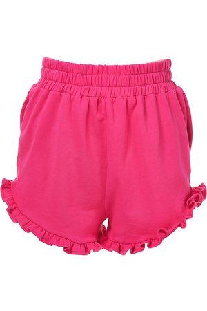 AMUR Women's Adalynn Ruffle Terry Shorts - Magenta - Size Large