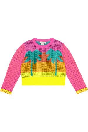 Stella McCartney Intarsia cotton mesh sweatshirt