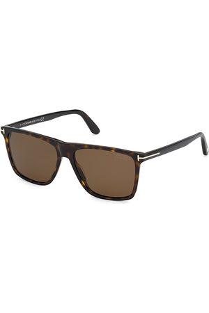 Tom Ford Men Square - Men's 54MM Plastic Square Sunglasses - Classic Dark