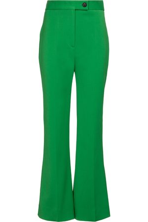 Victoria Victoria Beckham High-rise flared stretch-twill pants