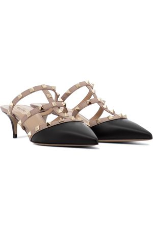 VALENTINO GARAVANI Women Pumps - Rockstud leather mules