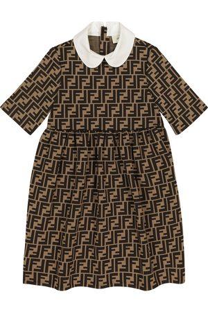 Fendi FF cotton-blend dress