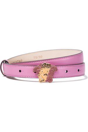 VERSACE Women Belts - Medusa embellished leather belt