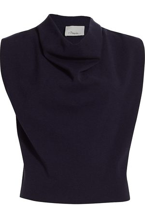 3.1 Phillip Lim Women's Military Cowl Sleeveless Top - Midnight - Size Large