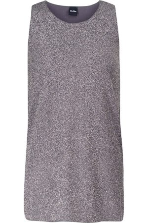 Max Mara Women Tank Tops - Leisure Brunate metallic-jersey tank top