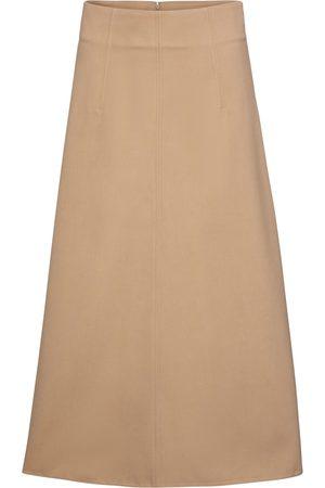 RED Valentino High-rise cotton-blend midi skirt