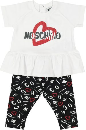 Moschino Baby stretch-cotton T-shirt and leggings set