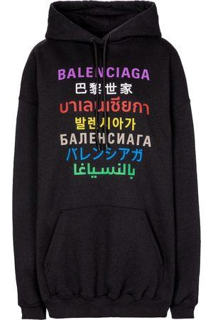 Balenciaga Languages cotton-blend hoodie