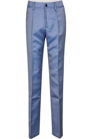 ROTATE Robyn high-rise straight jacquard pants