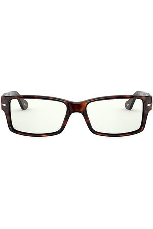 Persol Men's 58MM Rectangular Optical Glasses - Havana