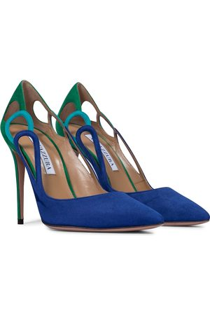 Aquazzura Fenix 105 suede pumps