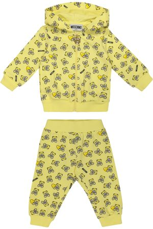 Moschino Stretch Pants - Baby printed stretch-cotton hoodie and pants