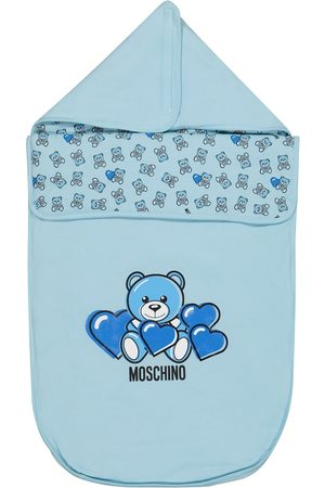 Moschino Baby stretch-cotton bunting bag